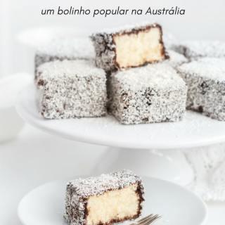 Conheça o Lamington, um bolinho popular na Austrália   Inglês Gourmet