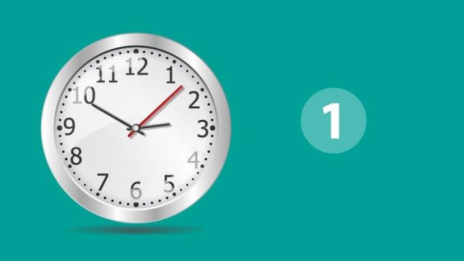 hora decir la hora 1