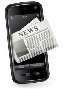 jornais em smartphones ou tablets com Android