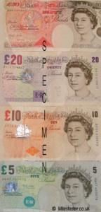 Notas de libra esterlina