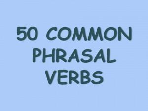 os phrasal verbs mais comuns em ingles