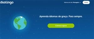 tela inicio Duolingo