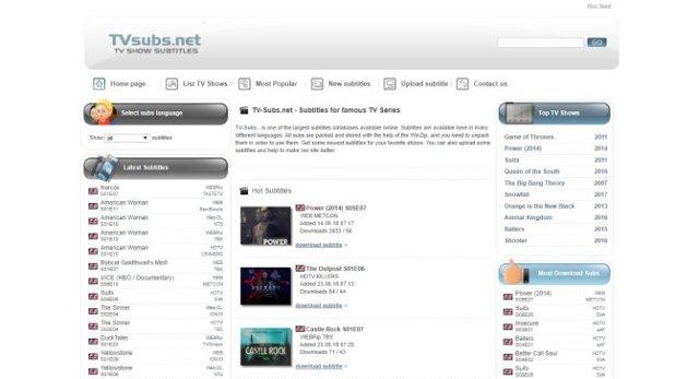 site para legendas em ingles - TVsubs