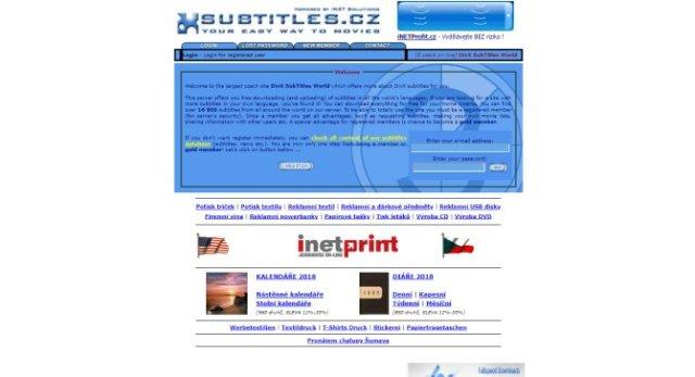 site para legendas em ingles - subtitles and divx world