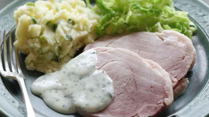 Pratos típicos da Irlanda Bacon and Cabbage