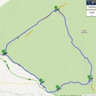 Road Cycling Route Around Ingleborough