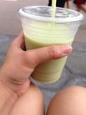 frozen green tea sake!
