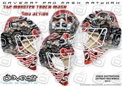 Monster Truck Goalie Mask Gustavsson Detroit poster