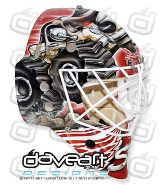 Monster Truck Goalie Mask Gustavsson Detroit right