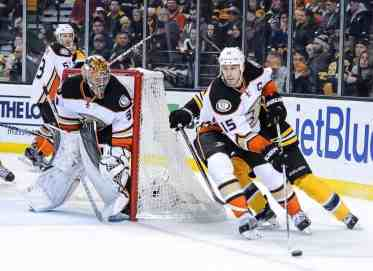 Ryan Getzlaf and Frederik Andersen