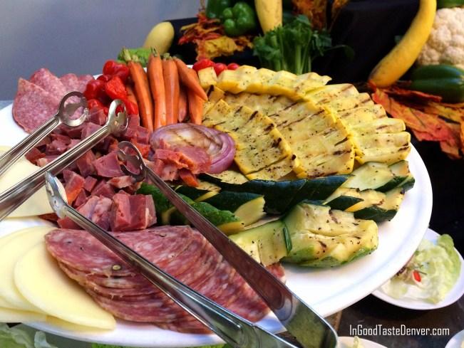 Grilled vegetables at the Hilton Denver Inverness Hotel.