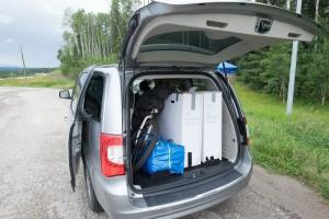 Mit unserem Minivan auf dem Weg nach Jasper
