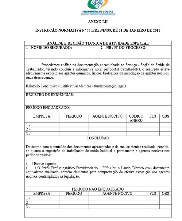 Documentos para aposentadoria especial