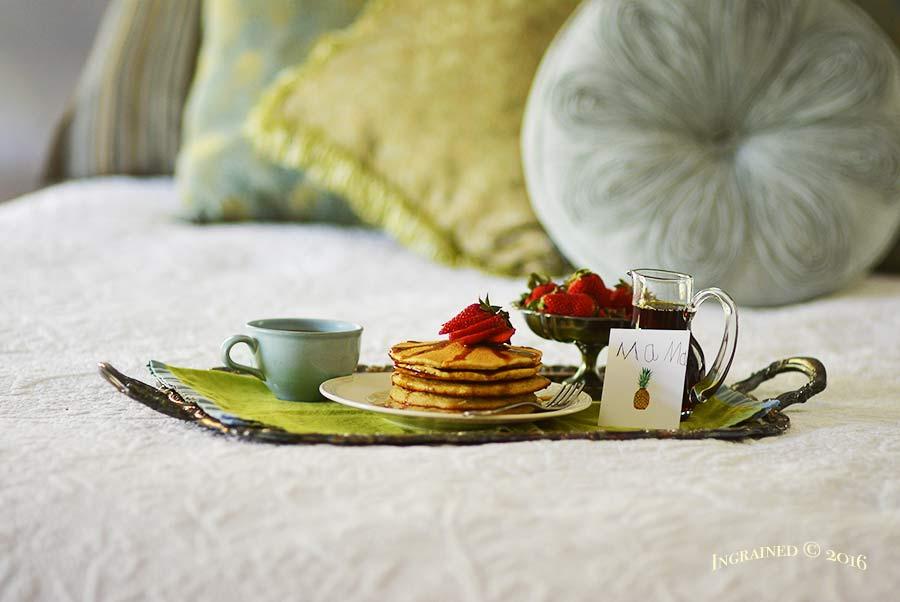 Pancake Breakfast in Bed | Ingrainedliving.com