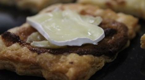 Tartine aux camembert et pommes