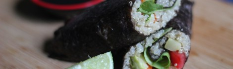 Wrap vegano com alga nori