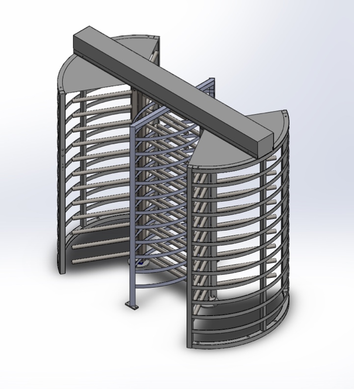 Full Height Turnstile Double Rotor