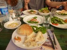 Salads and pita