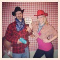 Jason and I at the cowboy themed party