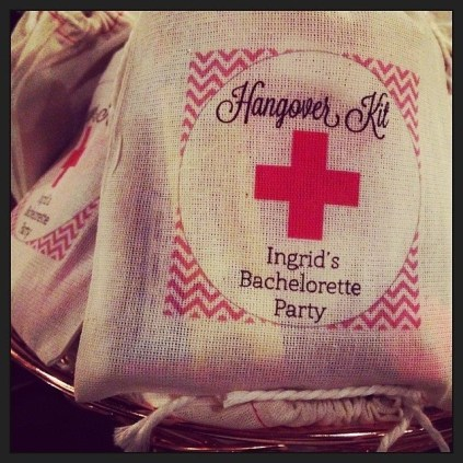 Adorable favors at Bachelorette Party