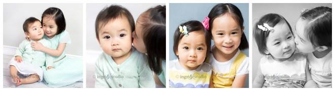 Chloe {at 3 yrs, then 4 yrs} & Olive {at 8 mos, then 1 yr}