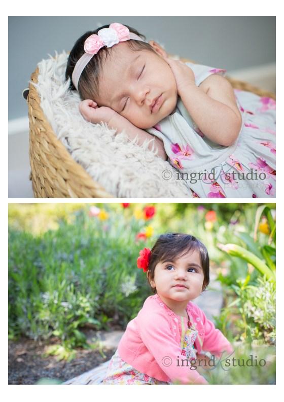* Mia, newborn then 1 *