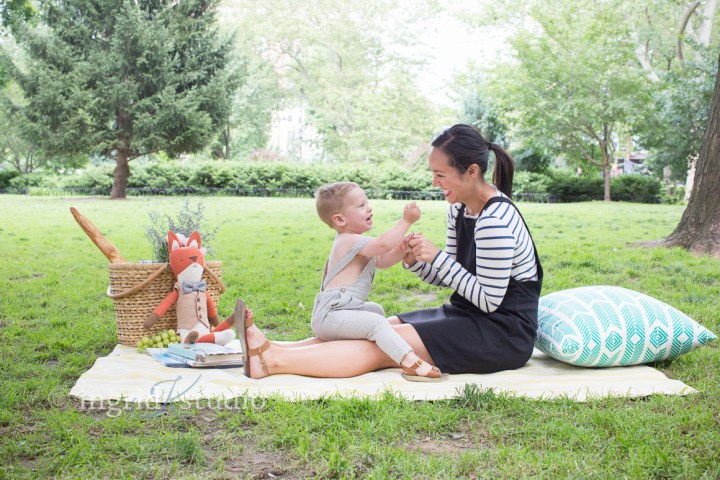2 year old W's Picnic Session in Hamilton Park