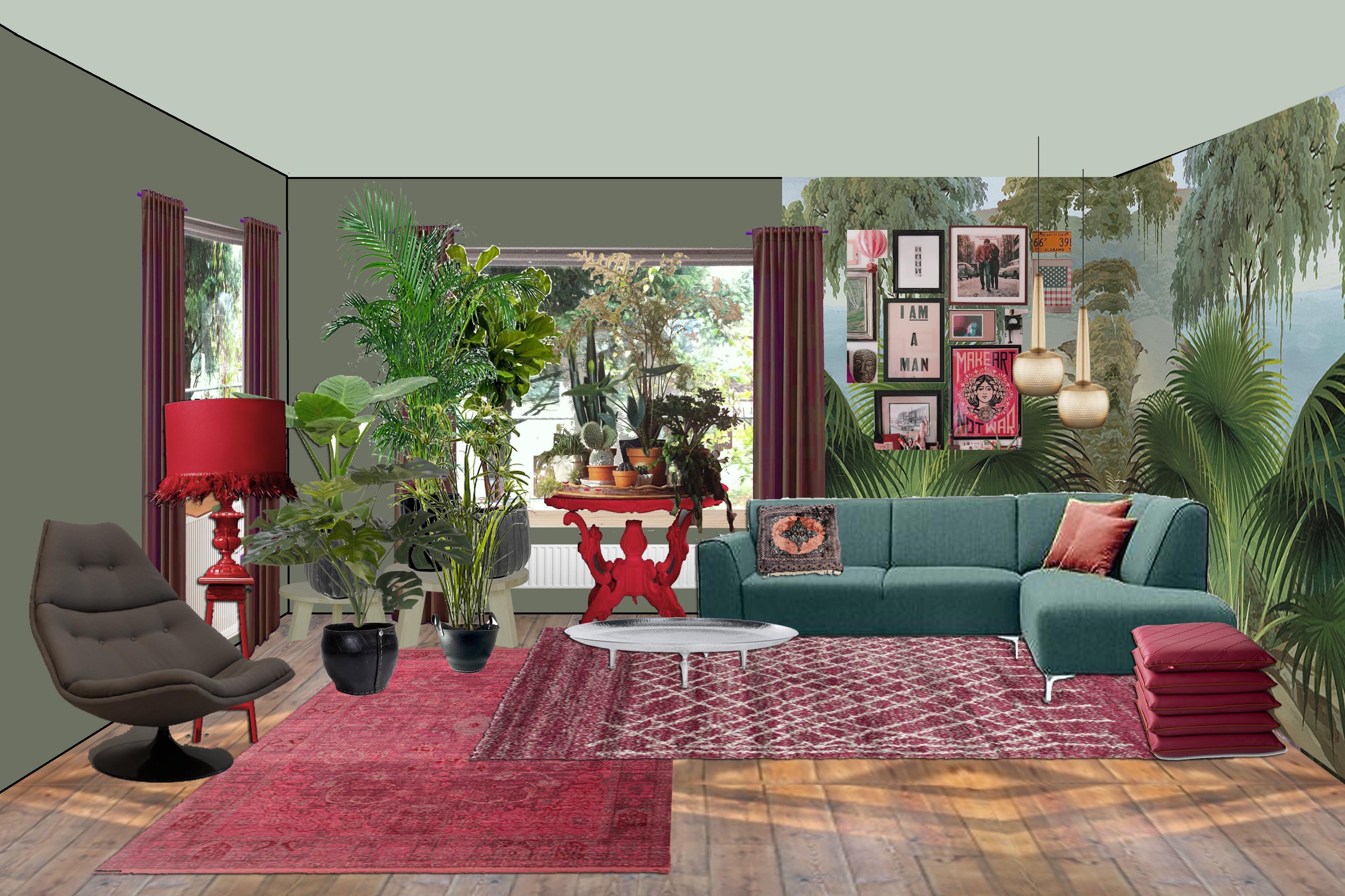Groen In Woonkamer : Woonkamer ideeen groen olijfgroene muur woonkamer beautiful