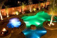 Dream backyard with LED Pool Lighting | Inground Pool Lights