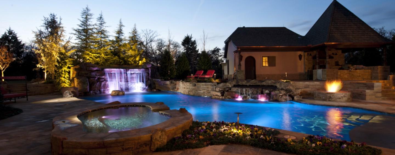Nature Inspired Swimming Pool Edgewater Estate OK