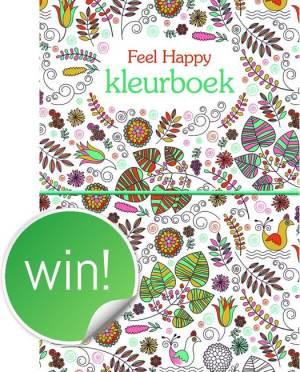 Winactie - Doe mee en maak 3x kans op dit Feel Happy kleurboek
