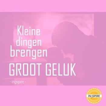 Kleine dingen brengen GROOT GELUK - geboorte spreuk van ingspire.nl ©