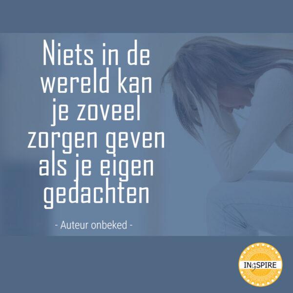 Spreuk je eigen gedachten....   www.ingspire.nl