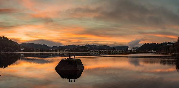 Venneslafjorden om hausten