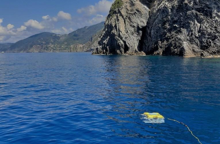 Ispezione geofisica nell'area Marina Protetta delle Cinque Terre