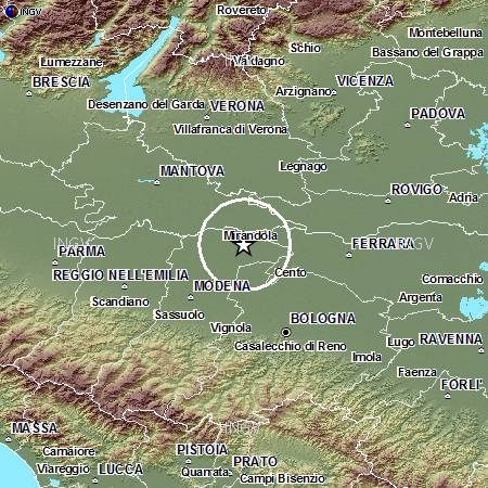Terremoto Pianura Padana Emiliana: evento sismico M4.0, 27 maggio ore 20:18