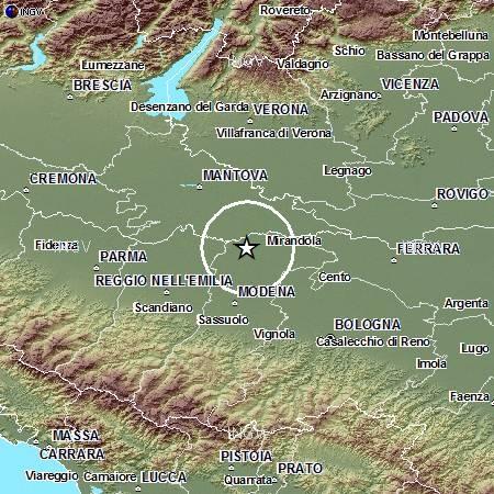 Terremoto in Pianura Padana Emiliana: evento M4.2, 31 maggio ore 21.04