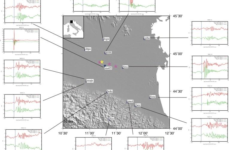 Terremoto in Pianura Padana Emiliana del 20 maggio: spostamenti cosismici del suolo ottenuti dal GPS ad alta frequenza