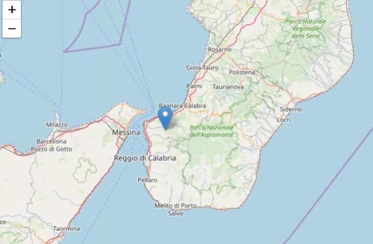Evento sismico nella provincia di Reggio Calabria, M4.6, 29 agosto ore 01.12