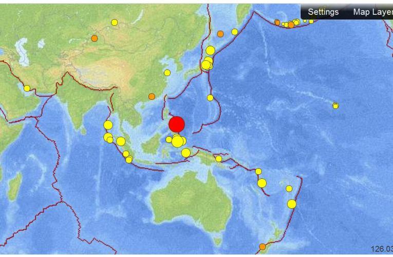 Terremoto M 7.6 nelle Filippine (31 agosto ore 12:47 UTC)