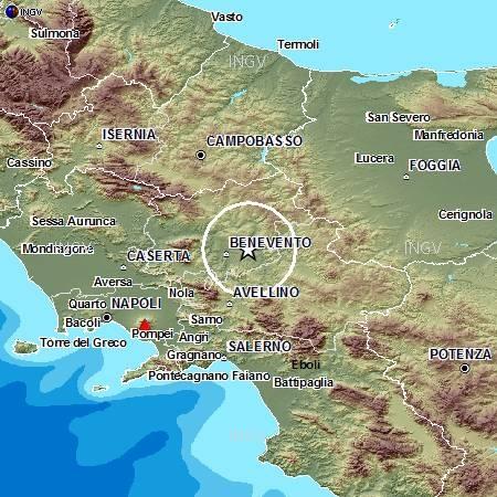 Evento sismico in provincia di Benevento, M4.1, 27 settembre ore 03.08