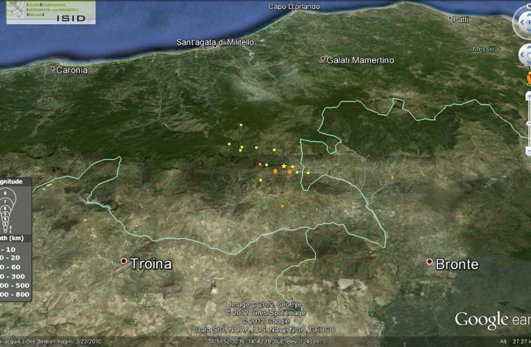 Terremoto in provincia di Messina, M4.3, 4 gennaio 2013 ore 08.50