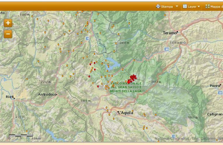Terremoto tra le province di L'Aquila e Teramo, M3.7, 17 febbraio 2013 ore 02.00
