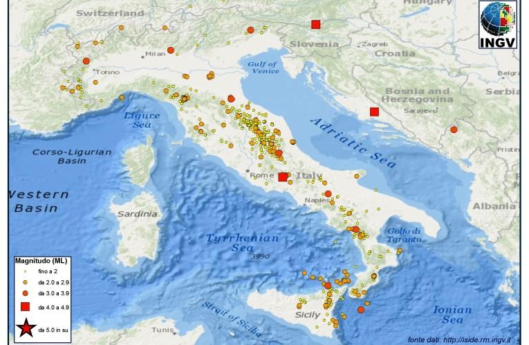 Italia sismica: i terremoti di Febbraio 2013