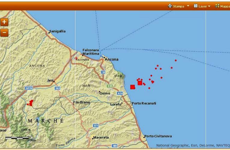 Sequenza sismica in Adriatico centro-settentrionale