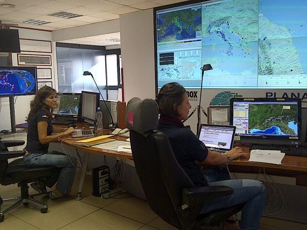 La Sala Sismica INGV dove vengono analizzati in tempo reale i dati di tutti i terremoti italiani