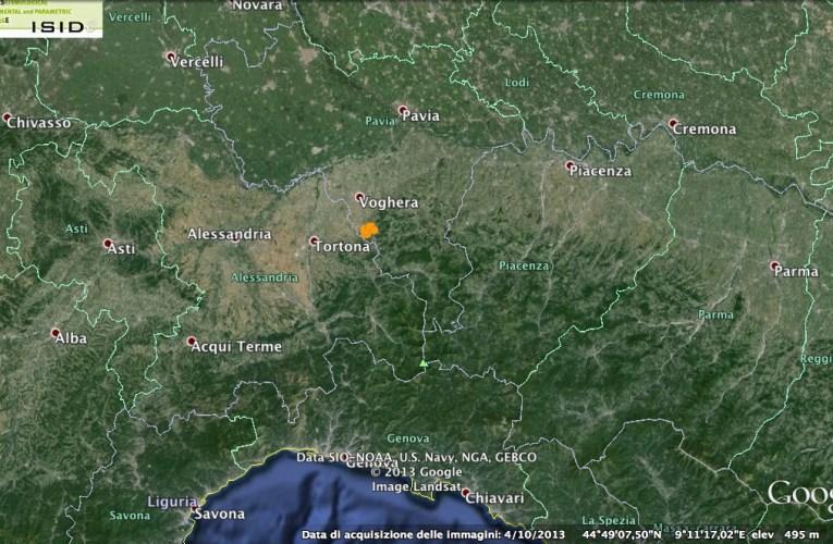 Ancora un terremoto (M3.7) tra Tortona e Voghera (AL-PV)