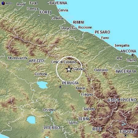 Localizzazione evento sismico ML 4.0 del 22 dicembre alle 11:06.