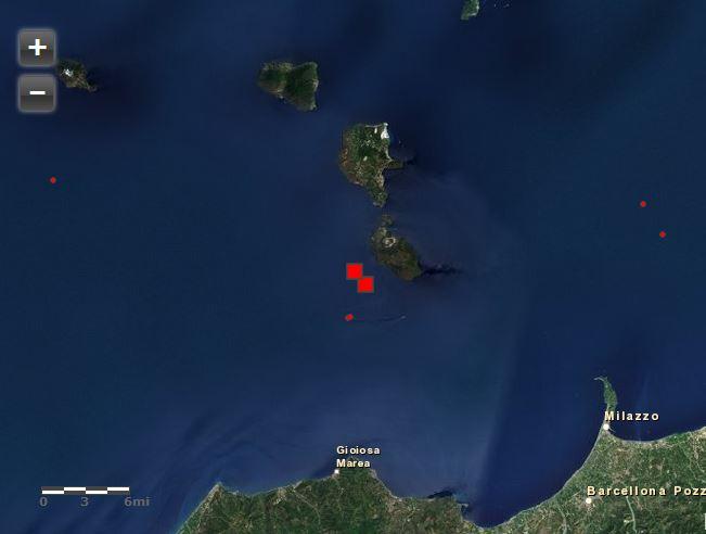 Due eventi sismici nelle Isole Lipari, M 4.0, 14 gennaio
