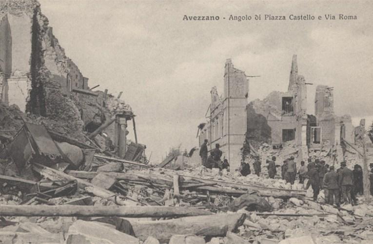 I terremoti del '900: il terremoto del 13 gennaio 1915 nella Piana del Fucino